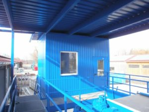 Container shelter industriel